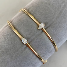 Load image into Gallery viewer, Pear-Cut Diamond Bangle