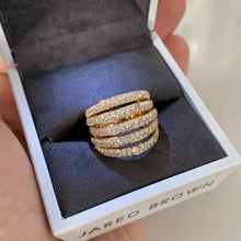 Load image into Gallery viewer, Five-Row Pavé Diamond Ring