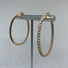 Load image into Gallery viewer, Oval Diamond Hoops