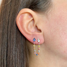 Load image into Gallery viewer, Multi-Colour Two-Piercing Earring