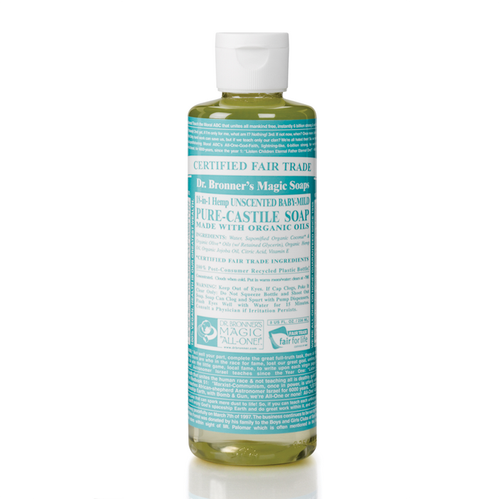 Dr. Bronner's 18-in-1 Hemp Unscented Baby-Mild Pure-Castile Liquid Soap 8oz ?id=9783446983