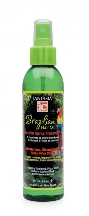Fantasia IC Brazilian Hair Oil Keratin Spray Treatment 6 oz