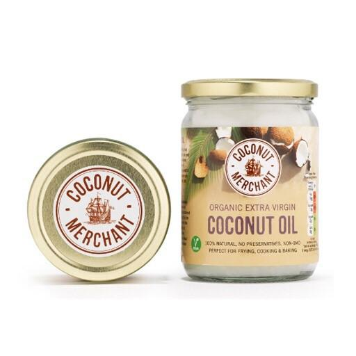 Coconut Merchant Raw Organic Extra Virgin Coconut Oil 500ml