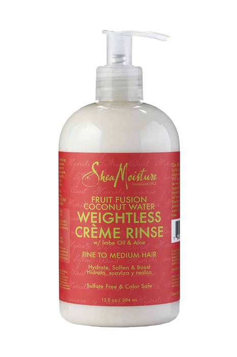SheaMoisture Fruit Fusion Coconut Water Weightless Crème Rinse 12oz ?id=9785175367