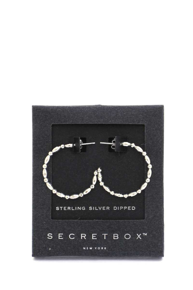 Secret Box Metal Open Circle Earring