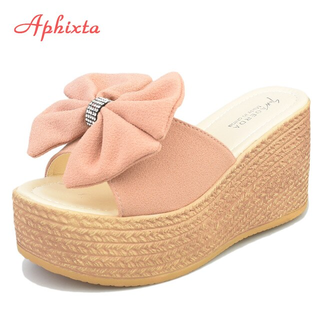 Slippers Appliques Butterfly-knot Sandals