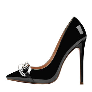 Women Chain Pumps Pointed Toe