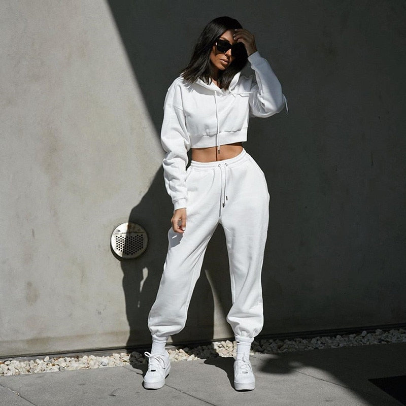 2021 Fashion Outfits for Women Tracksuit Hoodies Sweatshirt and Sweatpants