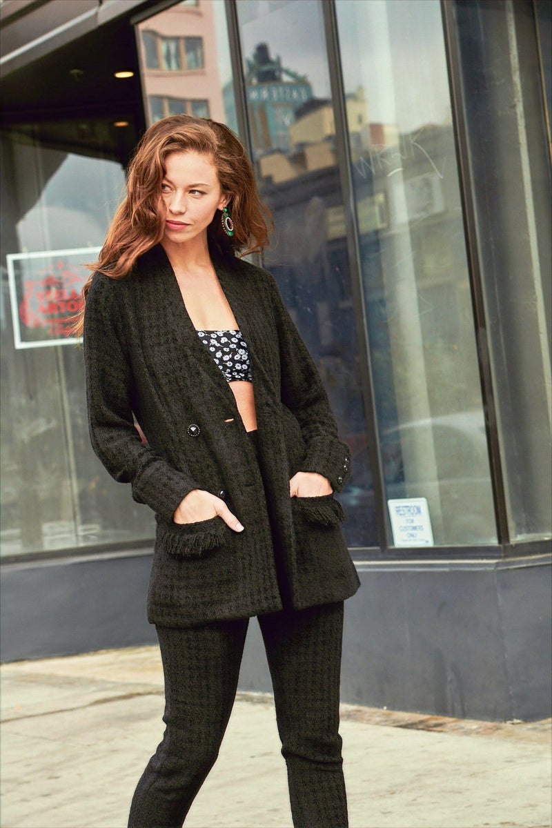 Gerbera Tweed Black Blazer