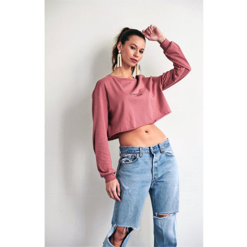 Powerful Mauve Cropped Top