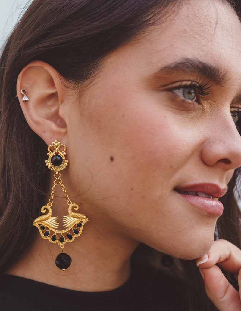 The Lotus Pharaoh Earring