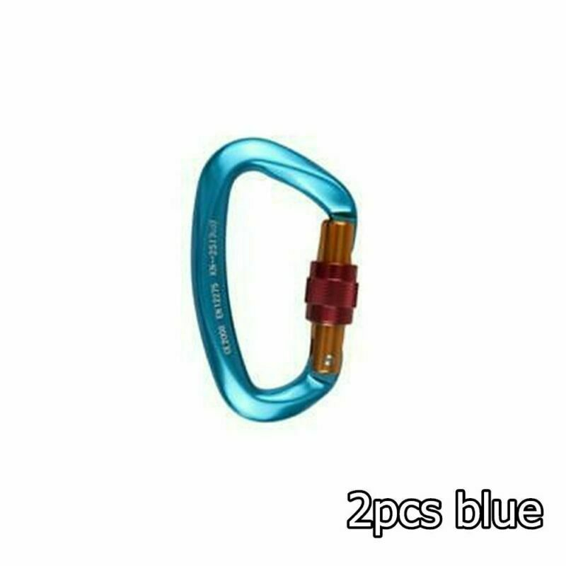 25KN Carabiner Clip Hook Rock D-Ring Screw Lock