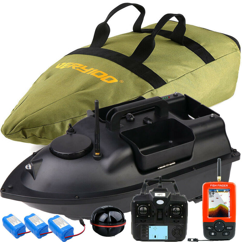 VERY100 Wireless Fishing Bait Boat 3 Hoppers LCD Fishfinder