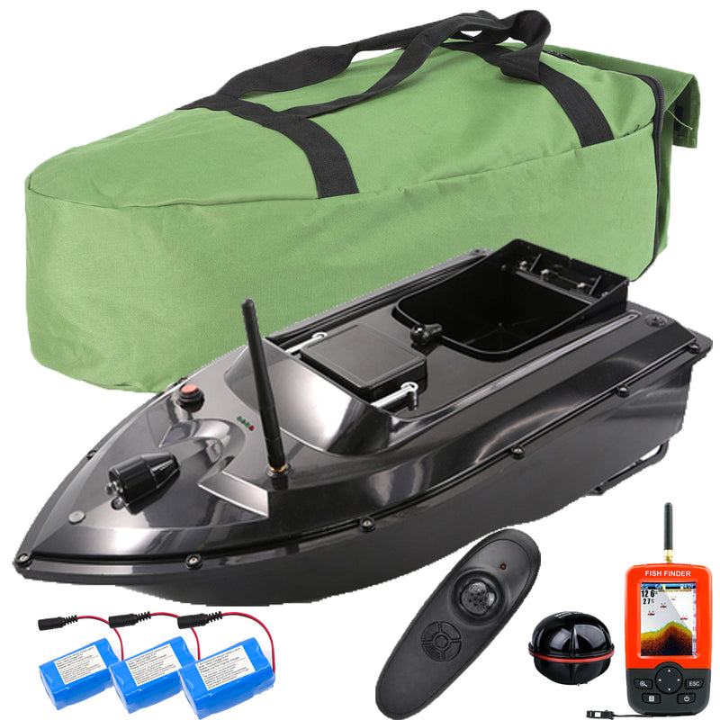 500M Wireless Remote Control Bait Boat 2 Hoppers With GPS Fishfinder