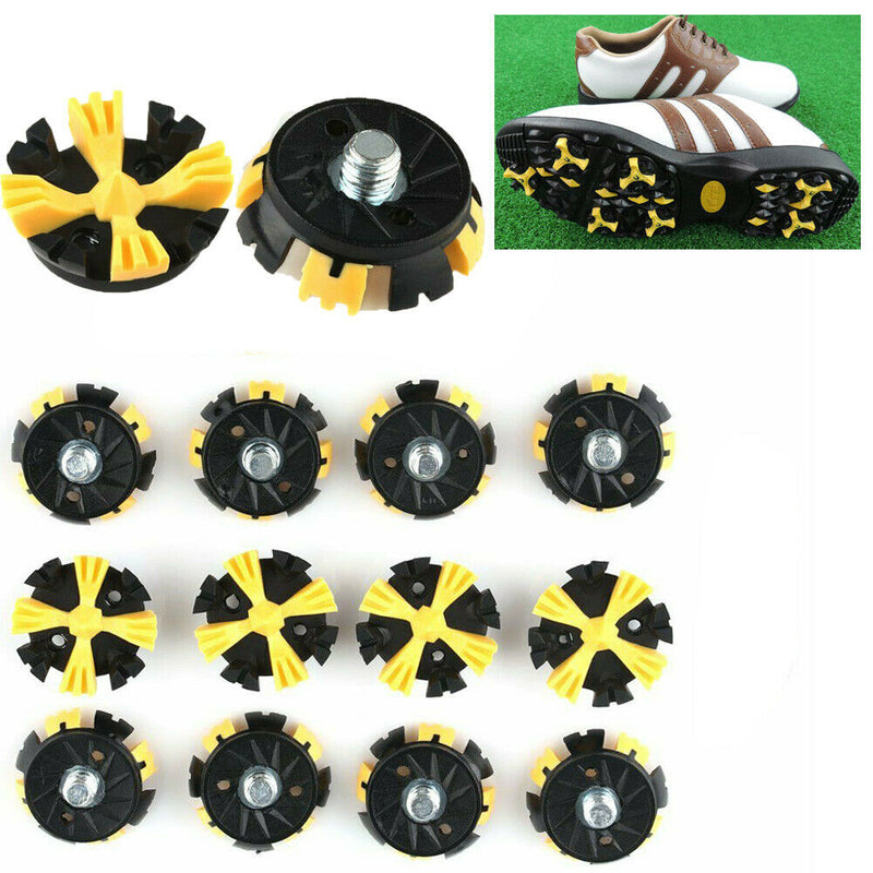 14 pcs Champ Golf Shoes Spikes Stinger Screw Studs Metal Thread Replacement