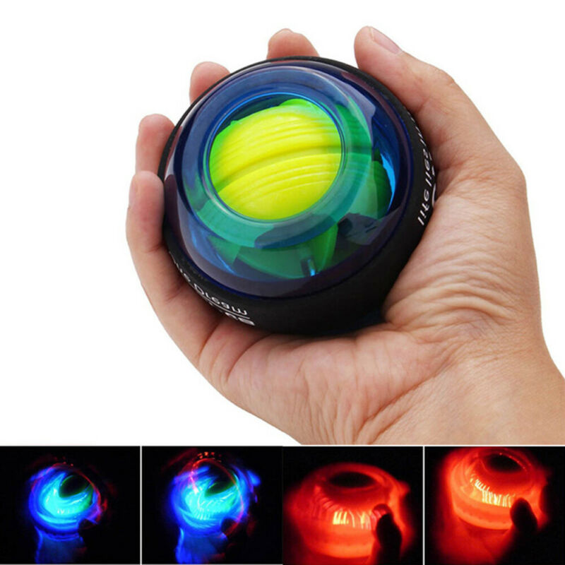 LED Light Gyroscope Wrist Ball Gyro Force Train Arm Exercise Muscle Power Ball