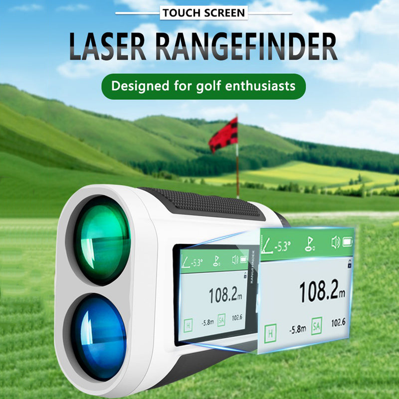 600M Digital Distance Meter Golf Telescope Laser Rangefinder LCD Display Screen