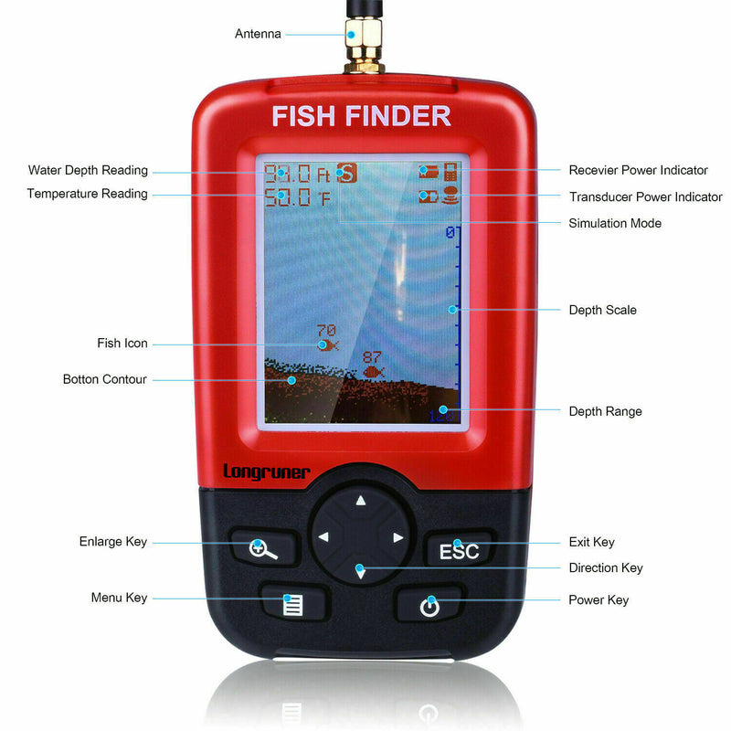 500M Wireless GPS Bait Boat LCD Fishfinder+Bag+Batteries