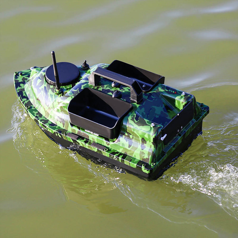 500M Wireless GPS Fishing Bait Boat Toy Boat With 3 Hoppers