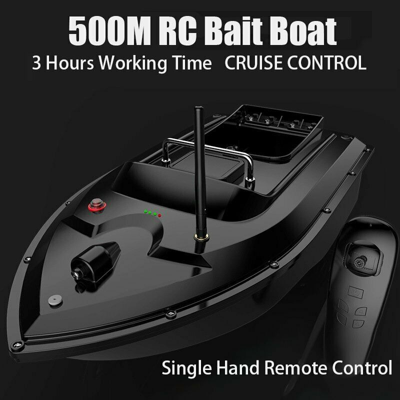 500M Wireless RC Fishing Bait Boat Hook Post with Handbag