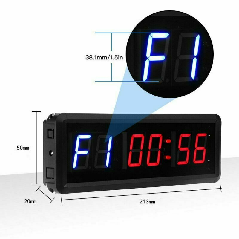LED Digital  Interval Timer Training Stopwatch Clock