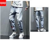 XL Streetwear Denim Jeans Men Ripped Mens Blue Baggy Hip hop Pants Winter Brand Skateboard Masculino Fashions Male Straight Pant