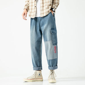 Men's Vintage Jeans Straight plus size Hip Hop Blue Jean for Men Mens Denim Pants Men Fashion 2020 Trousers