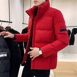 Men's Zipper High-necked Casual Padded Coat Warm Thick Male Jackets Men Cotton Overcoats Brand Clothing 3 Color 4XL