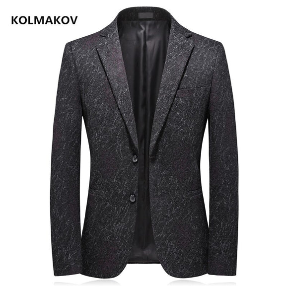 2020 autumn men blazers Single breasted classic business blazer men,Elastic thickening of knitted fabric men's jackets