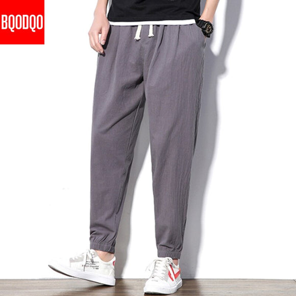 Casual Pants Men Jogger Harem Pants Khakis Summer Streetwear Mens Hip Hop Fitness Japanese Fashion Black Military Army Trousers