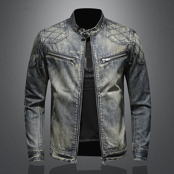 2020 New Arrival High Quality Casual Denim Jacket With Stand-up Collar And Zipper For Men,Men's Casual Jackets,Plus-size M-5XL