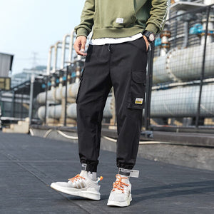 Joggers Harem Hip Hop Pants For Men Casual Cotton Khaki Streetwear Baggy Cargo Pant Polyester Autumn Drawstring Sports Trousers
