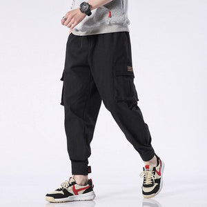 Army Green Cotton Joggers Casual Harem Pants For Men Autumn Drawstring Sports Trousers Khaki Streetwear Trend Baggy Cargo Pant