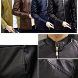 Men Leather Jackets Coats Clothing Autumn Winter Male Fashion Casual Faux PU Jacket Men's Motorcycle  Jacket