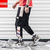 Side Pockets Cargo Pants Men Japanese Black Casual Baggy Joggers Pant Mens Hip Hop Military Streetwear Army Green Harem Trousers