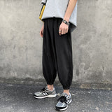 Men's Joggers Harem Pants Man Black Comfortable Pant Summer Casual Streetwear Loose Trouser Japanese Trendy Sweatpants
