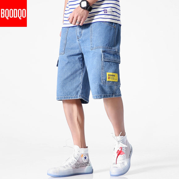 Denim 2019 Jeans Men 5XL Cotton Plus Size Casual Summer Fashion Running Shorts Streetwear Casual Trendy Hip Hop Loose Short Pant