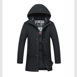 Men's Cotton-padded Jacket with Hooded Coat Winter In The Long Thick Warm Cotton Jacket Men's Clothing Men Jacket Winter