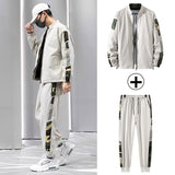 Men Outfit Set Teenage Cardigan Jacket Men's Sport Trend Casual Loose Jacketmoda