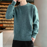 Men's Casual Sweater Round Neck Fashion Solid Color Pullover Sweater 2020 Autumn and Winter New Loose Trend Plus Size Sweater