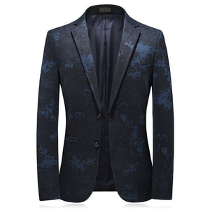 2020 autumn new arrival men blue blazers high quality casual blazer men,Elastic thickening of knitted fabric men's jackets
