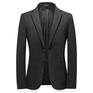 2020 autumn men blazers high quality Single breasted business blazer men,Elastic thickening of knitted fabric men's jackets