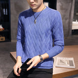 2020 New Autumn and Winter Sweater Men's Round Neck Sweater Men's Pullover Long Sleeve Warm Men's Sweater Wool Knit Sweater