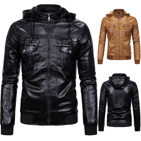 New Men's Leather Jackets Casual Motorcycle PU Jacket Biker Leather Coats Male Classic Winter Jackets Clothes European Size