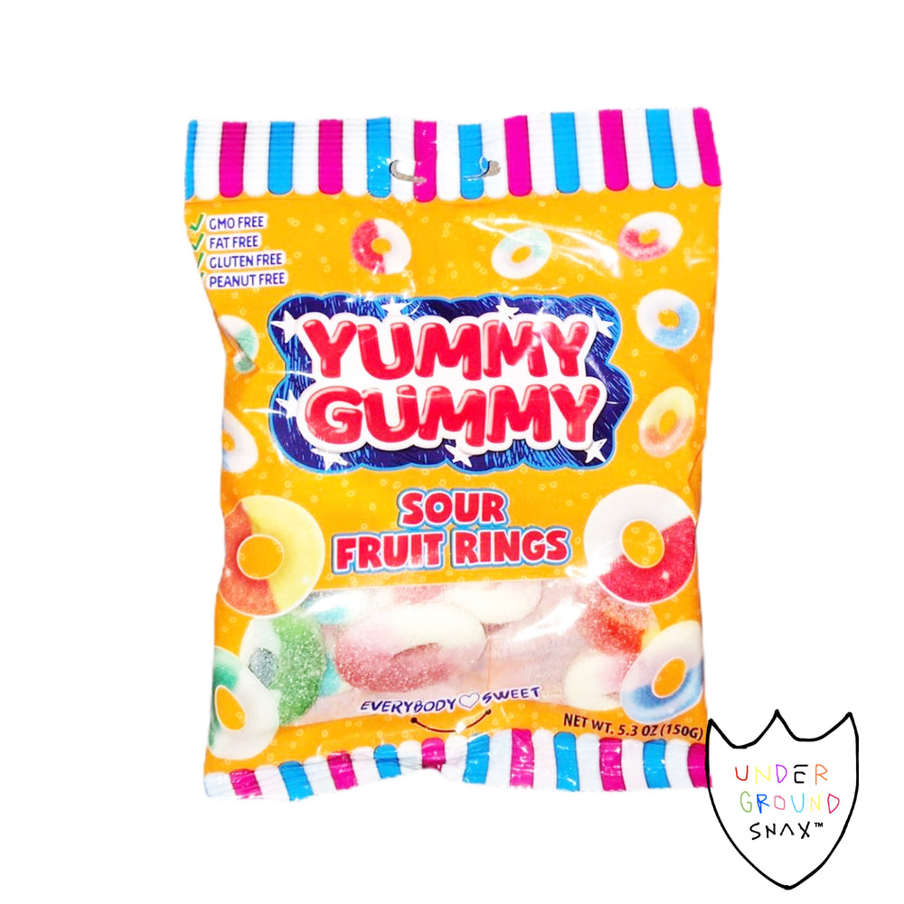 Yummy Gummy Sour Fruit Rings