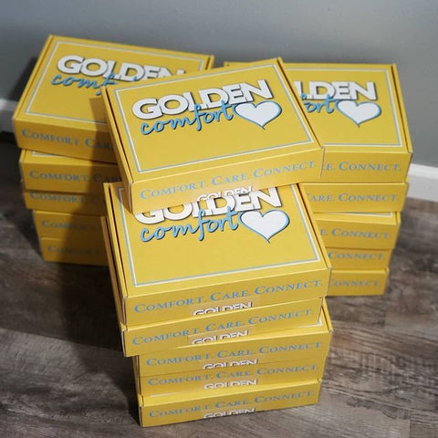Golden Comfort Crate first shipment of subscription boxes