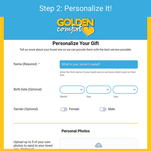 Step 2 - personalize your subscription box
