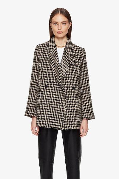 The Kaia Blazer in Houndstooth