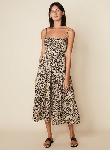 The Alexia Midi Dress in Shamari Animal Print