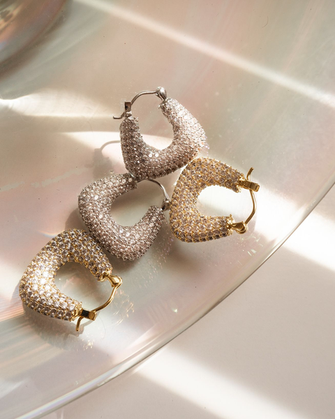 The Pave Tia Hoops